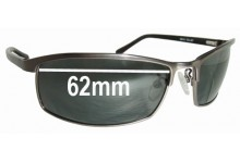 Sunglass Fix Sunglass Replacement Lenses for Police S8018 - 62mm Wide