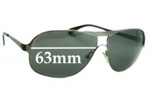 Sunglass Fix Sunglass Replacement Lenses for Police S8292 - 63mm-64mm Wide