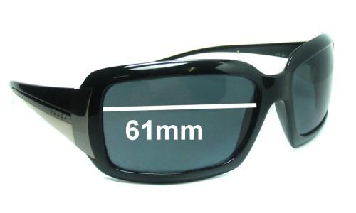 Sunglass Fix Sunglass Replacement Lenses for Prada SPR01H - 61mm Wide