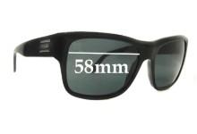 Sunglass Fix Sunglass Replacement Lenses for Prada SPR02M - 58mm Wide