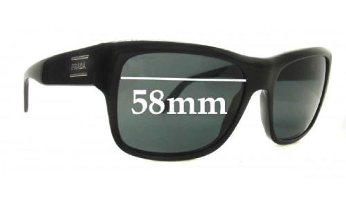 Sunglass Fix Sunglass Replacement Lenses for Prada SPR02M - 58mm Wide