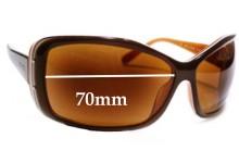 Sunglass Fix Sunglass Replacement Lenses for Prada SPR04F 1AB1A1 or 2AU3N1 or 3BU2V1 - 70mm Wide