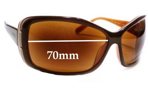 Sunglass Fix Sunglass Replacement Lenses for Prada SPR04F 4BX2Z1 - 70mm Wide