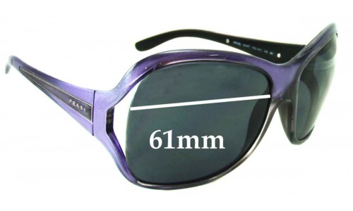 Sunglass Fix Sunglass Replacement Lenses for Prada SPR05L - 61mm Wide