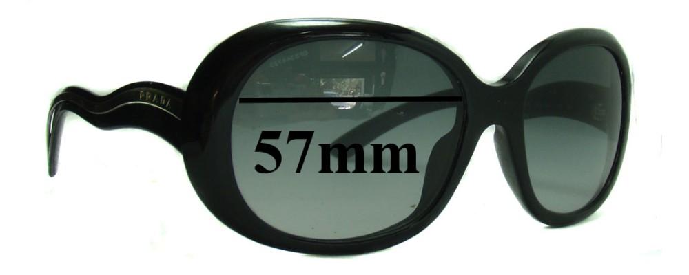 Sunglass Fix Sunglass Replacement Lenses for Prada SPR08L - 57mm Wide