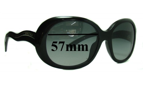 Sunglass Fix Sunglass Replacement Lenses for Prada SPR08L - 57mm Wide