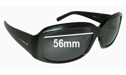 Sunglass Fix Sunglass Replacement Lenses for Prada SPR12H - 56mm wide