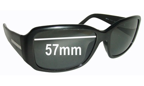Sunglass Fix Sunglass Replacement Lenses for Prada SPR14H - 57mm Wide