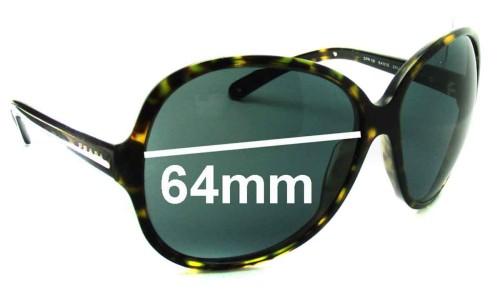 Sunglass Fix Sunglass Replacement Lenses for Prada SPR19I - 64mm Wide