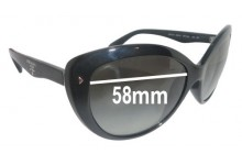 Sunglass Fix Sunglass Replacement Lenses for Prada SPR21N - 58mm Wide