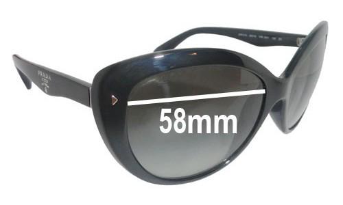 Sunglass Fix Sunglass Replacement Lenses for Prada SPR21N - 58mm Wide