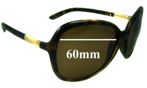Sunglass Fix Sunglass Replacement Lenses for Prada SPR25L - 60mm wide lens