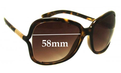 Sunglass Fix Sunglass Replacement Lenses for Prada SPR28L - 58mm Wide
