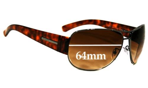 Sunglass Fix Sunglass Replacement Lenses for Prada SPR52G - 64mm wide - 48mm tall