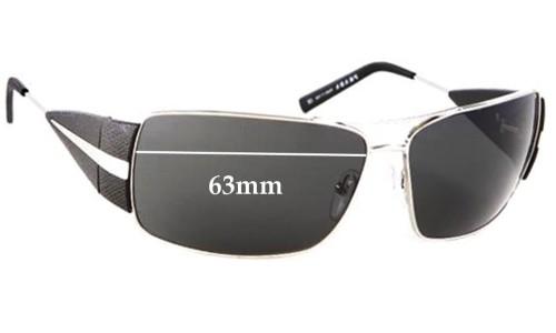 Sunglass Fix Sunglass Replacement Lenses for Prada SPR55H - 63mm wide