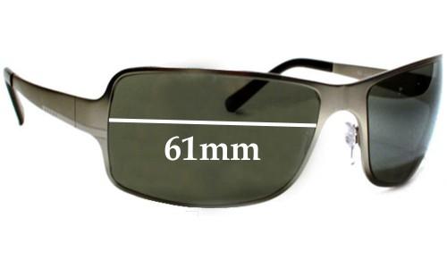 Sunglass Fix Sunglass Replacement Lenses for Prada SPR60F - 61mm Wide