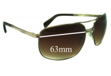 Sunglass Fix Sunglass Replacement Lenses for Prada SPR60M - 63mm Wide