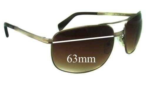 Sunglass Fix Sunglass Replacement Lenses for Prada SPR60M - 63mm lens