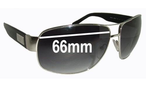 Sunglass Fix Sunglass Replacement Lenses for Prada SPR61L - 66mm Wide