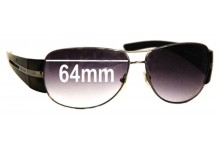 Sunglass Fix Sunglass Replacement Lenses for Prada SPR69H - 64mm Wide