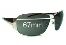 Sunglass Fix Sunglass Replacement Lenses for Prada SPR74G - 67mm Wide