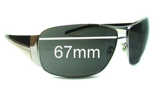 Sunglass Fix Sunglass Replacement Lenses for Prada SPR74G - 67mm Wide