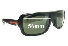 Sunglass Fix Sunglass Replacement Lenses for Prada SPS01I - 56mm Wide