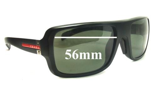 Sunglass Fix Sunglass Replacement Lenses for Prada SPS01 56MM wide