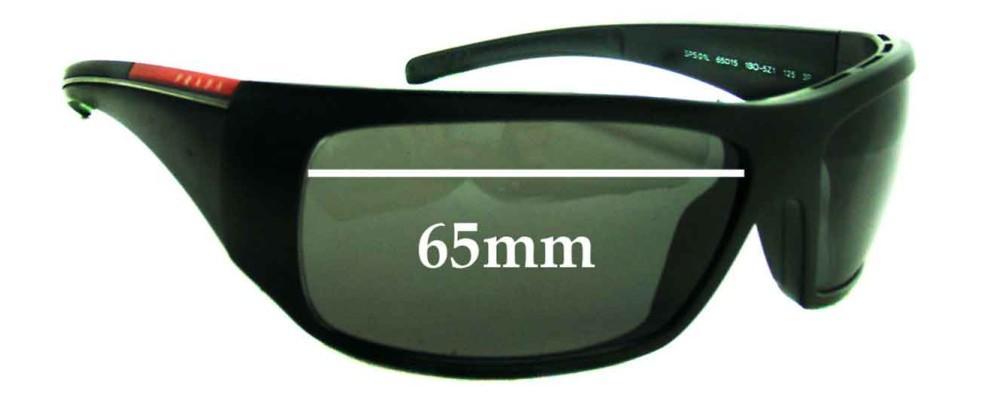 Sunglass Fix Sunglass Replacement Lenses for Prada SPS01L - 65mm Wide