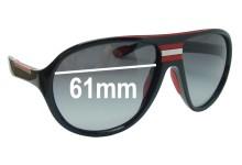 Sunglass Fix Sunglass Replacement Lenses for Prada SPS01M - 61mm Wide