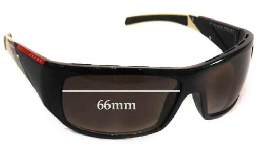 Sunglass Fix Sunglass Replacement Lenses for Prada SPS06H - 66mm wide
