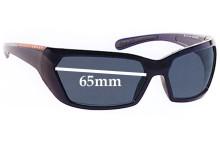 Sunglass Fix Sunglass Replacement Lenses for Prada SPS07G - 65mm Wide