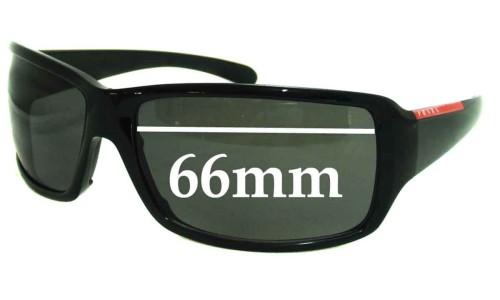 Sunglass Fix Sunglass Replacement Lenses for Prada SPS08G - 66mm lens