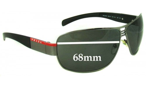 Sunglass Fix Sunglass Replacement Lenses for Prada SPS50H & SPS50HS - 68mm Wide
