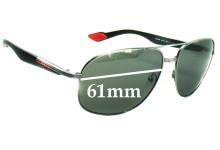 Sunglass Fix Sunglass Replacement Lenses for Prada SPS50M - 61mm Wide