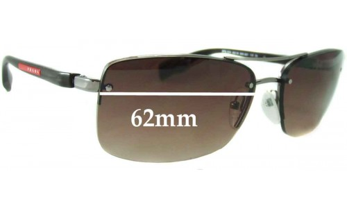 Sunglass Fix Sunglass Replacement Lenses for Prada SPS50N - 62mm Wide