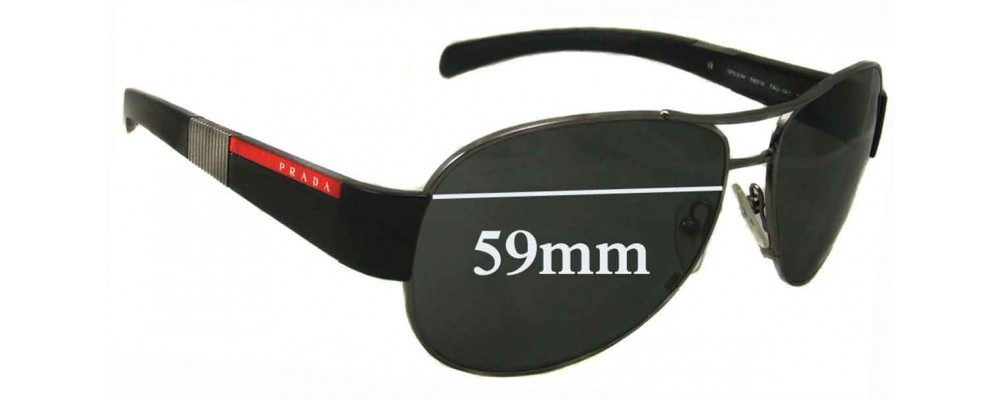 Sunglass Fix Sunglass Replacement Lenses for Prada SPS51H - 59mm Wide