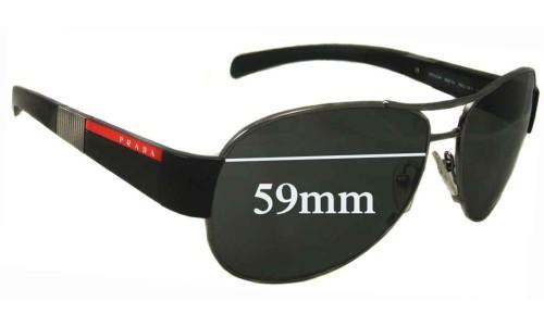 Sunglass Fix Sunglass Replacement Lenses for Prada SPS51H 59MM across