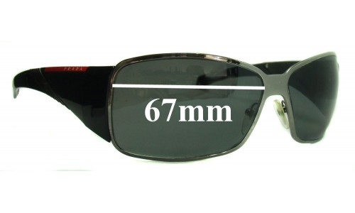 Sunglass Fix Sunglass Replacement Lenses for Prada SPS55H - 67mm Wide