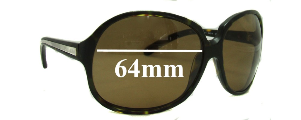 Sunglass Fix Sunglass Replacement Lenses for Prada SPR21I - 64mm Wide