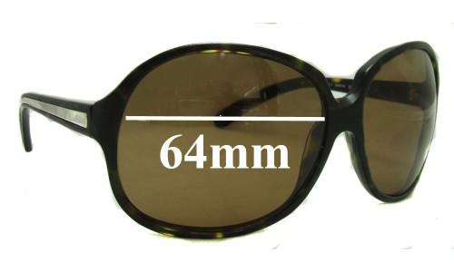 Sunglass Fix Sunglass Replacement Lenses for Prada SPR21I - 64mm lens
