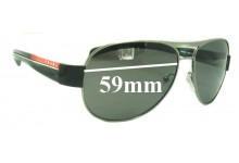 Sunglass Fix Sunglass Replacement Lenses for Prada SPS51L - 59mm Wide