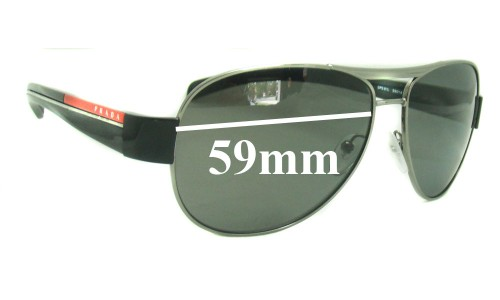 Sunglass Fix Sunglass Replacement Lenses for Prada SPS51L 59MM across