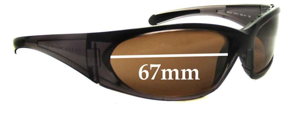 Sunglass Fix Sunglass Replacement Lenses for Prada SPS01F - 67mm Wide