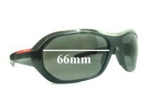 Sunglass Fix Sunglass Replacement Lenses for Prada SPS01H - 66mm Wide