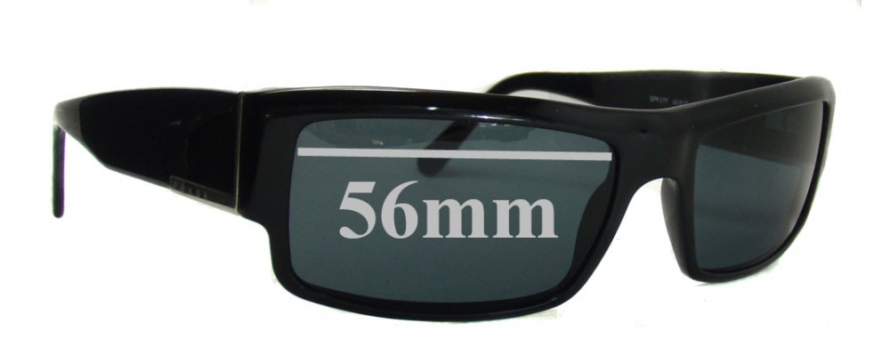 Sunglass Fix Sunglass Replacement Lenses for Prada SPR07F - 56mm Wide
