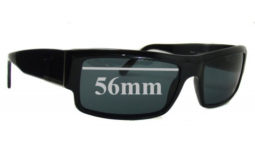 Sunglass Fix Sunglass Replacement Lenses for Prada SPR07F - 56mm wide lens