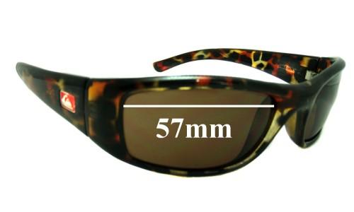 Sunglass Fix Sunglass Replacement Lenses for Quiksilver Preacher - 57mm Wide