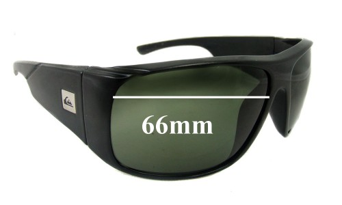 Sunglass Fix Sunglass Replacement Lenses for Quiksilver Revolver - 66mm Wide