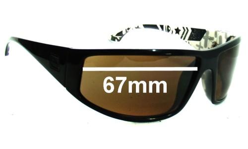 Sunglass Fix Sunglass Replacement Lenses for Quiksilver AKKA DAKKA - 67mm Wide